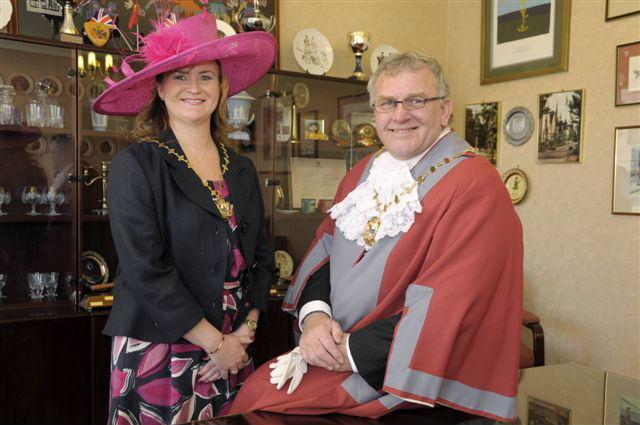 Photo of new Mayor and Mayoress