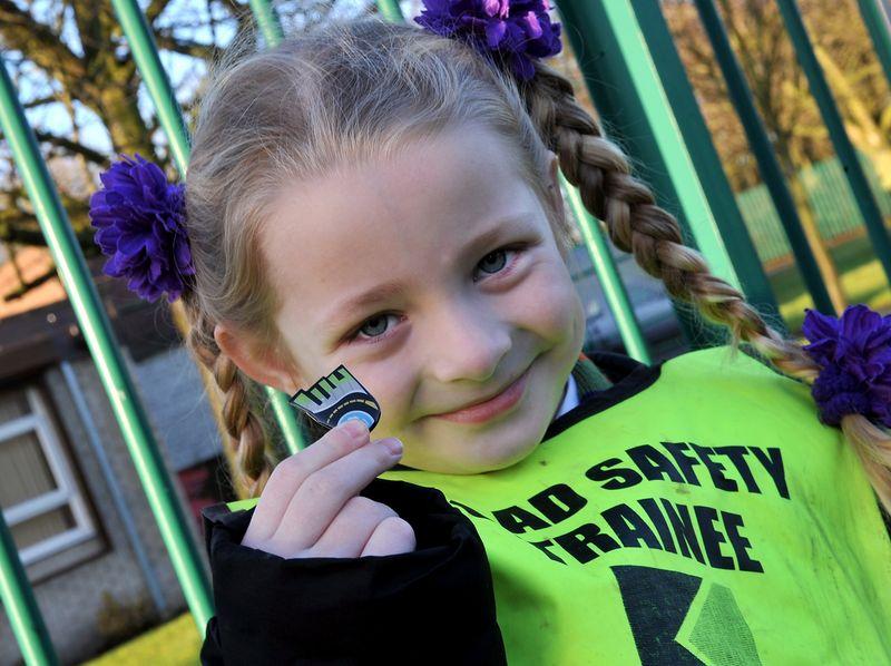 Walking to School - five year old Libbie