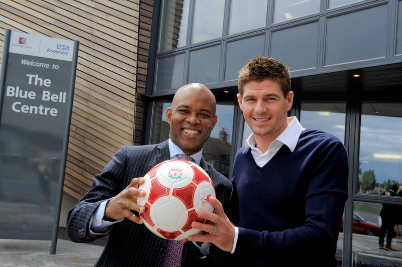 Dr Peter Ayegba & Steven Gerrard offically opening The Blue Bell Centre