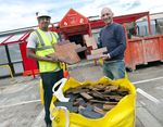 Wood salvaged from Northern Support Centre