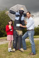 Evelyn's winning scarecrow