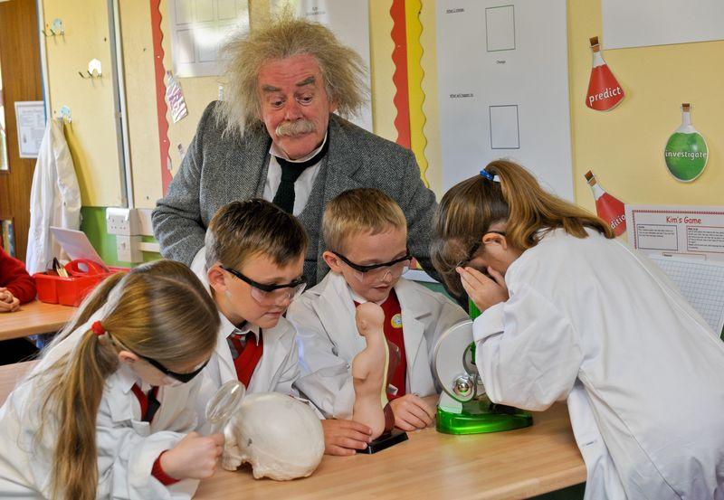 Einstein's visit to Evelyn