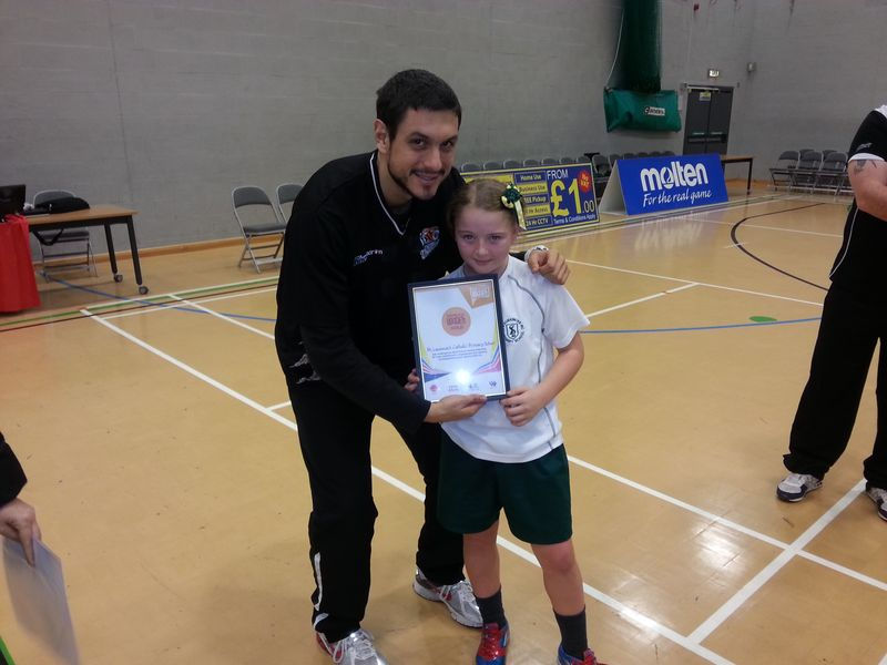 St Laurence's Catholic Primary and Eastcroft Park Primary schools  with Mersey Tigers 2