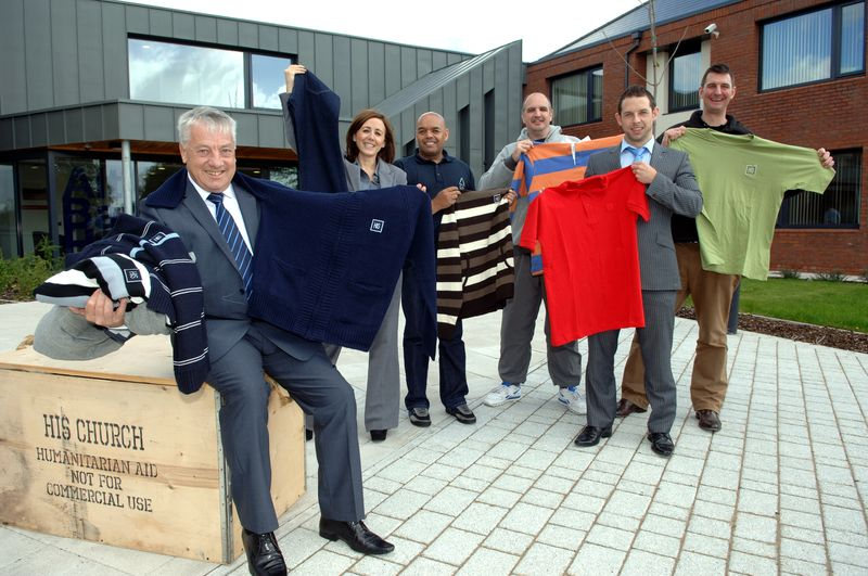 Trading Standards counterfeit clothing donation (Sept 2012)