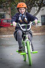 Bike winner Mollie Haslan