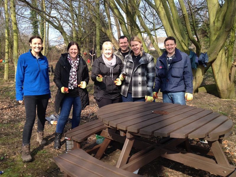 Your Housing Group staff clear woodland for Kirkby primary