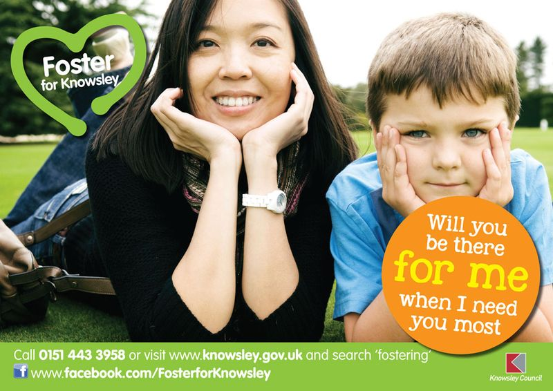 Fostering poster - woman and child