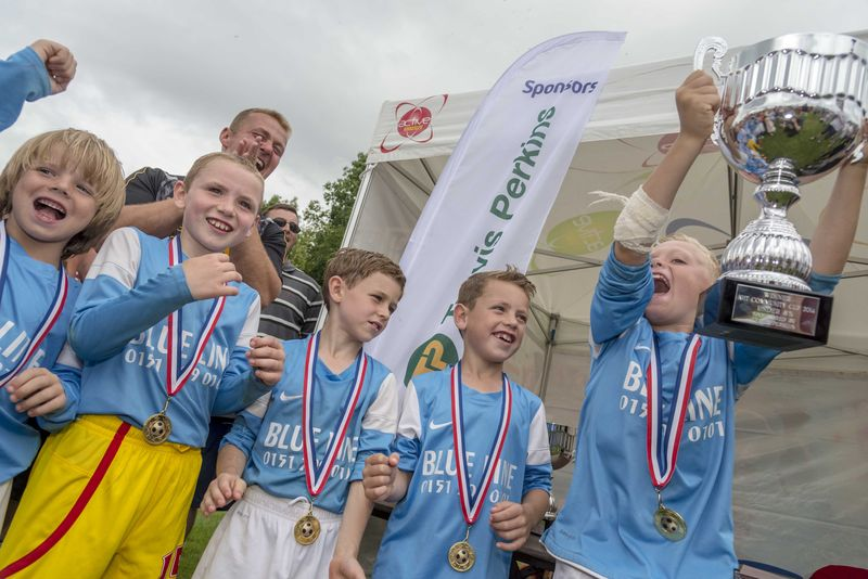 The winners of the football tournament at last year's Community Day